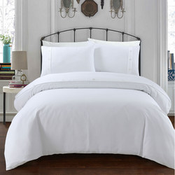 300 Thread Count Waffle Duvet Set White
