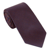 Square Pattern Textured Silk Tie