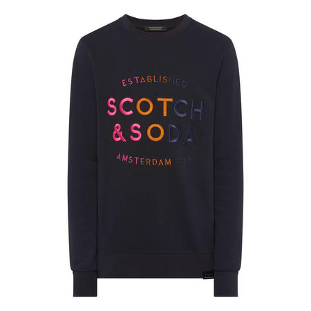 Colourful Embroidered Logo Sweat Top