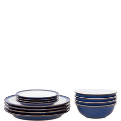 Imperial Blue 12-Piece Tableware Set