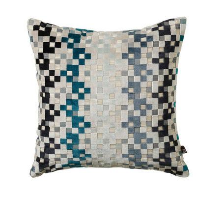 Puzzle Cushion Teal 43 x 43cm