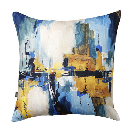 Solas Cushion Blue-Ochre 45 x 45cm