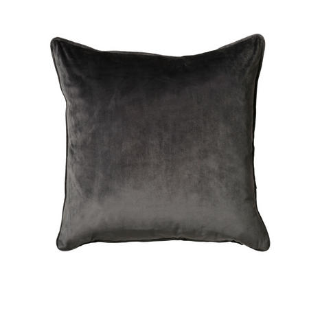 Belini Velour Cushion Charcoal  45 x 45cm