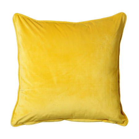 Belini Velour Cushion Yellow 45cm x 45cm