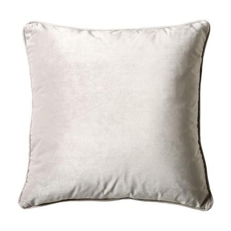 Belini Velour Cushion Silver 45cm x 45cm