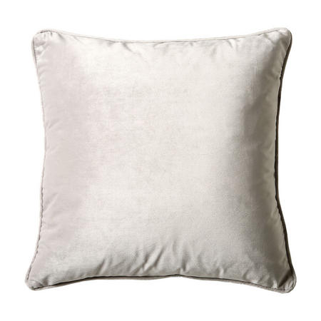 Belini Velour Cushion Silver 58cm x 58cm