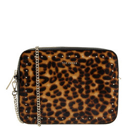 Savanna Leopard Print Crossbody Bag