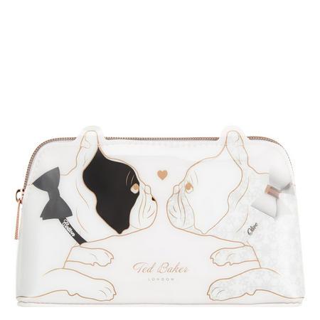 Bulldog Print Small Make-Up Bag