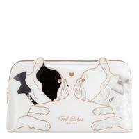 Bulldog Print Large Make-Up Bag