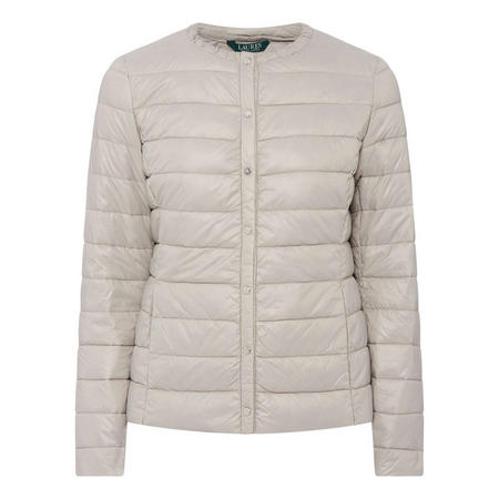 Collarless Down Jacket