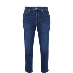 Cropped Slit Jeans