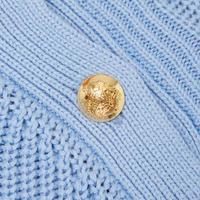 Button-Trim Cotton Jumper