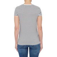 Striped Stencil Logo T-Shirt