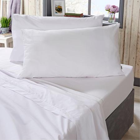 400 Thread Count Cotton Flat Sheet White