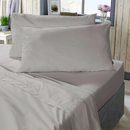 400 Thread Count Cotton Fitted Sheet Silver