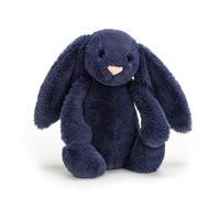 Bashful Navy Bunny 18cm