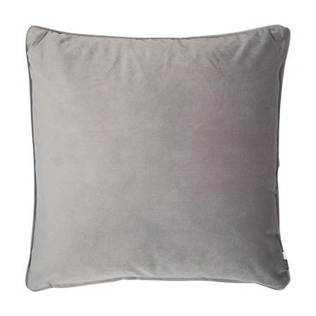 Velvet Piped Cushion Grey 43 x 43cm