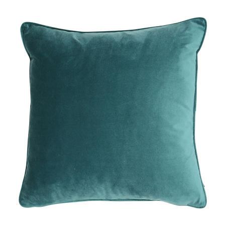 Velvet Piped Cushion Jade 43 x 43cm