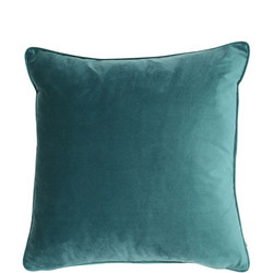 Velvet Piped Cushion Jade 43cm x 43cm