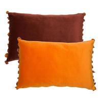 Double Sided Velvet Cushion Wine-Rust 40cm x 60cm