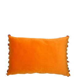 Double Sided Velvet Cushion Wine-Rust 40 x 60cm