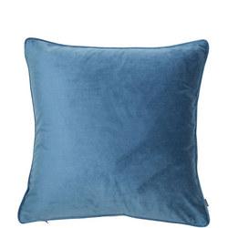 Matt Poly Velvet Cushion Blue-Wing