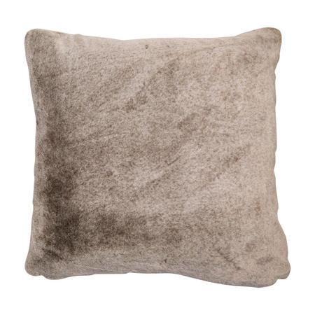 Faux Fur Supersoft Cushion Taupe 50cm x 50cm