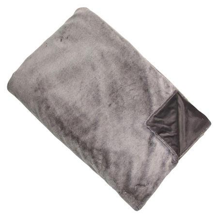 Faux Fur Grey Throw 150cm x 200cm