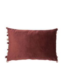 Double Sided Velvet Cushion Blush-Aubergine 50cm x 50cm