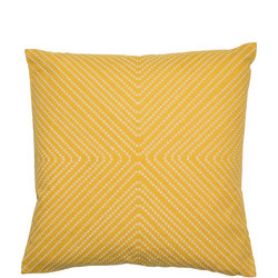 Embroidered Spots Cushion Mustard 45cm x 45cm