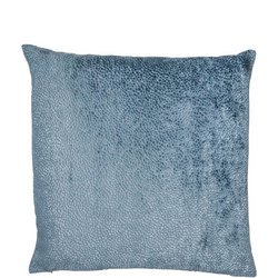 Cut Velvet Dots Cushion Blue 43cm x 43cm
