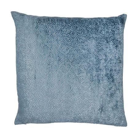 Cut Velvet Dots Cushion Blue 56 x 56cm