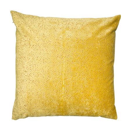 Cut Velvet Dots Cushion Mustard 56cm x 56cm