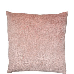 Cut Velvet Dots Cushion Pink 43 x 43cm