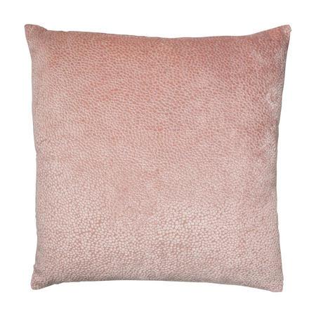 Cut Velvet Dots Cushion Pink 56 x 56cm