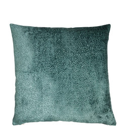 Cut Velvet Dots Cushion Teal 43cm x 43cm