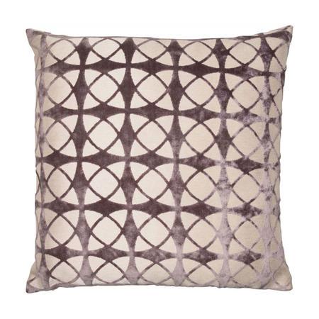 Velvet Spiral Cushion Grey 56 x 56cm