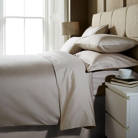 1000 Thread Count Fitted Sheet Flax