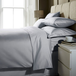 1000 Thread Count Fitted Sheet Ice Grey