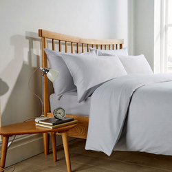 Pinstripe 200 Thread Count Duvet Set White
