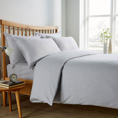 Micro Check 200 Thread Count Duvet Set Grey