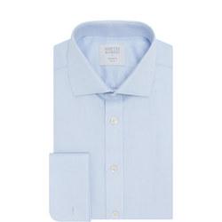 Double Cuff Herringbone Shirt