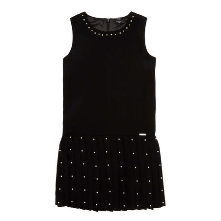 Pearl-Effect Sleeveless Dress