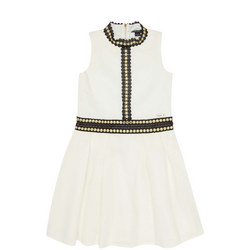 Pleated Studded Dress
