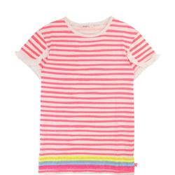Ruffled Stripe T-Shirt Dress
