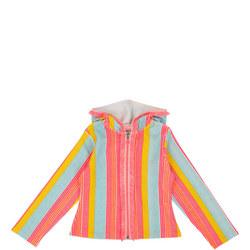 Stripe Zip Front Jumper
