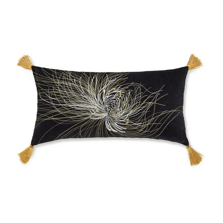 Serenity Cushion Black 30 x 60cm