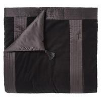 OBI Velvet Bedspread Black