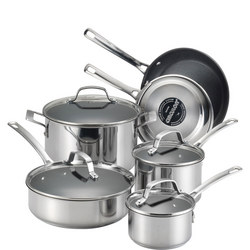 Circulon Genesis Stainless Steel 10 Piece Pan Set