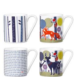 Ceramic Mugs Set Of Four